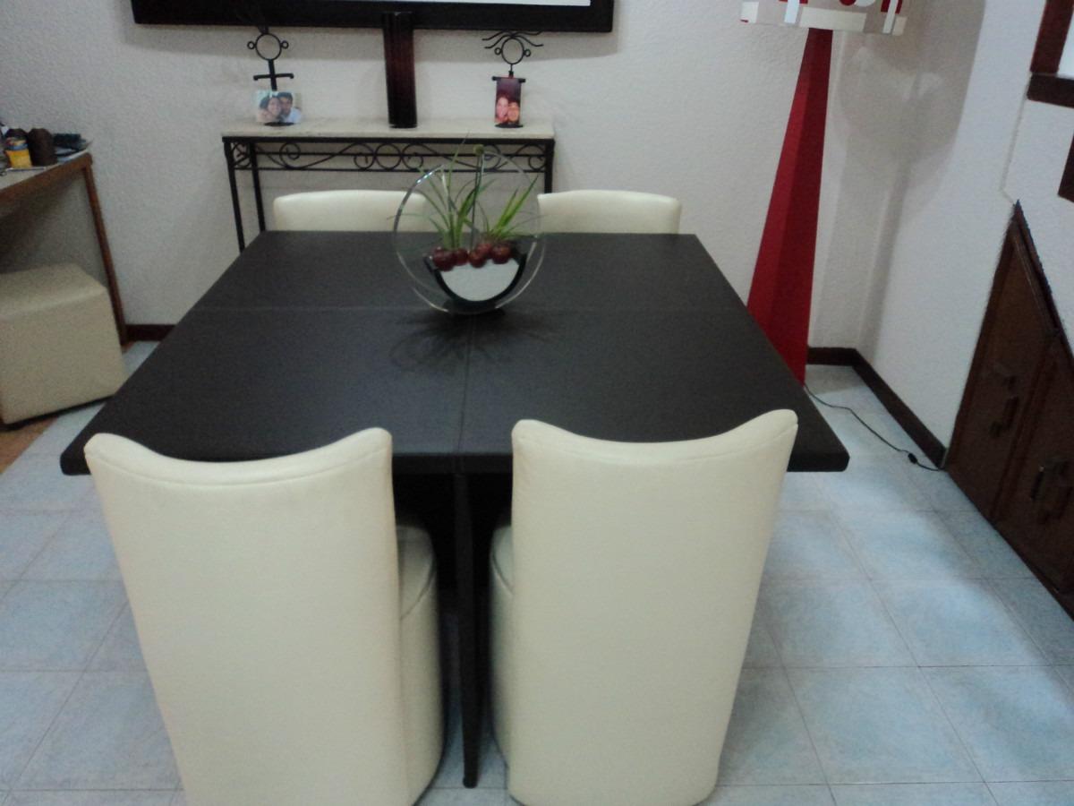 Comedor antecomedor mesa y 4 sillas lounge minimalistas - Decoraciones de mesas de comedor ...