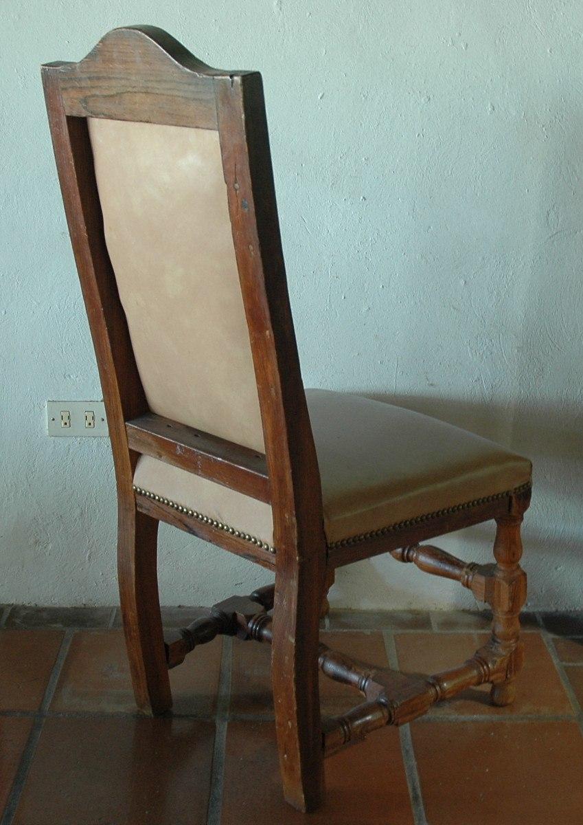 Comedor antiguo mesa estilo jacobino con 8 sillas piel for Comedor 8 sillas madera