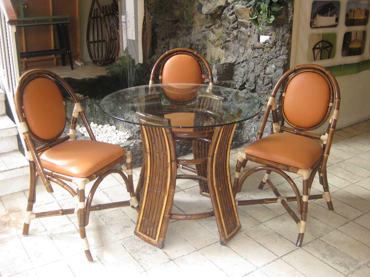 Comedor ar ndano con 4 sillas aralia en bamb 7 - Sillas de bambu ...