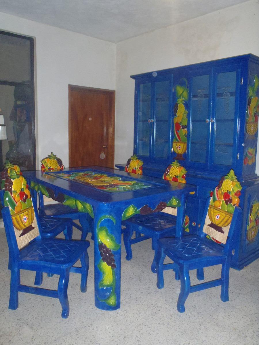 Comedor artesanal para 6 personas 30 en mercado for Comedor 6 personas