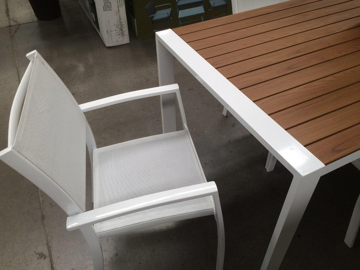 Comedor bali exteriores aluminio imitacion madera remate - Imitacion madera exterior ...