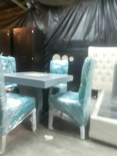 comedor capitonado 4 sillas el color.usted lo elige un añ