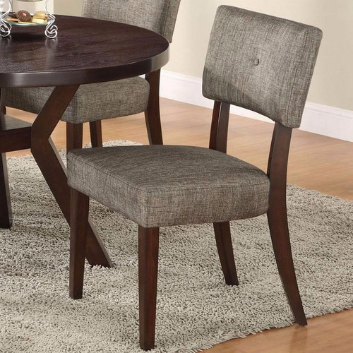 comedor circular 4 sillas tapizada madera pino - madera viva