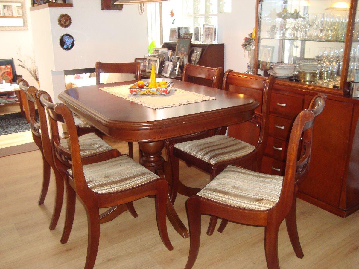 Comedor Clásico, Mesa Ovalada 6 Sillas - $ 1.800.000 en Mercado Libre
