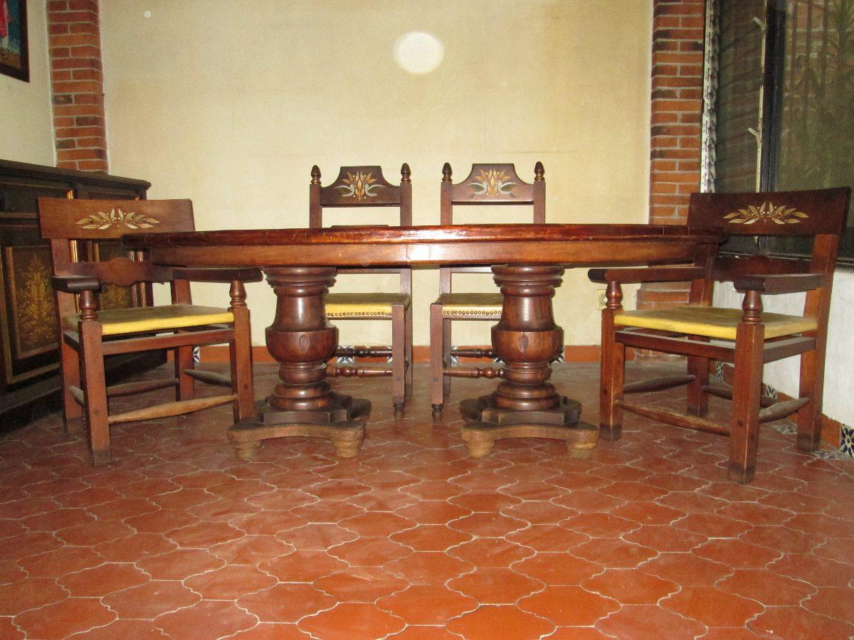 Comedor Colonial Cedro - $ 45,000.00 en Mercado Libre