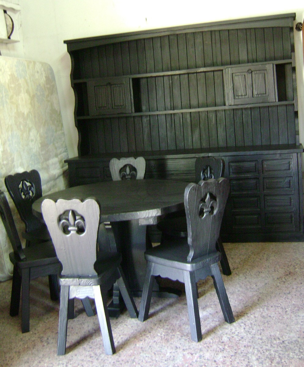 Comedor Colonial Frailero Macizo Con Modular Desmontable - $ 19.000 ...