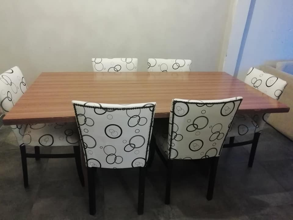 Comedor Completo: Mesa + 6 Sillas De Madera - $ 5.800,00 en Mercado ...
