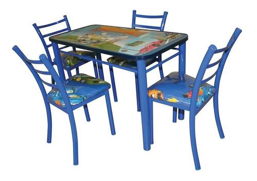 comedor con 4 sillas infantil rosa princesas azul envio grat