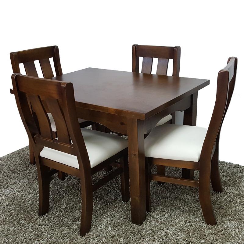 Comedor con 4 sillas moderno minimalista 100 madera gh for Comedor moderno de madera