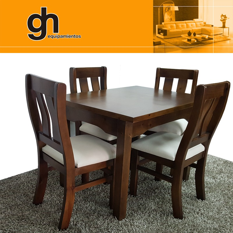 Comedor con 4 sillas moderno minimalista 100 nacional for Comedor 4 sillas moderno
