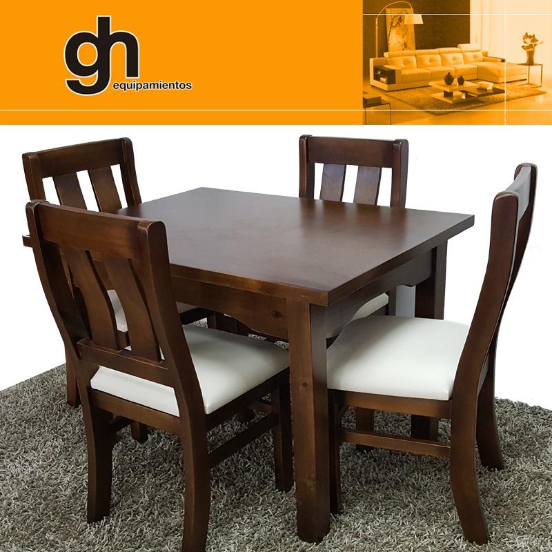 Comedor con 4 sillas moderno minimalista 100 nacional for Comedor pequea o 4 sillas