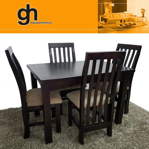 Comedor con 4 sillas moderno minimalista 100 nacional Comedor 4 sillas moderno