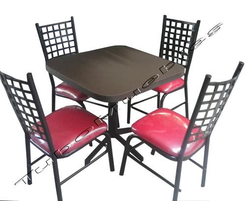 Comedor con 4 sillas para bar launge cafeteria negocio for Sillas para negocio