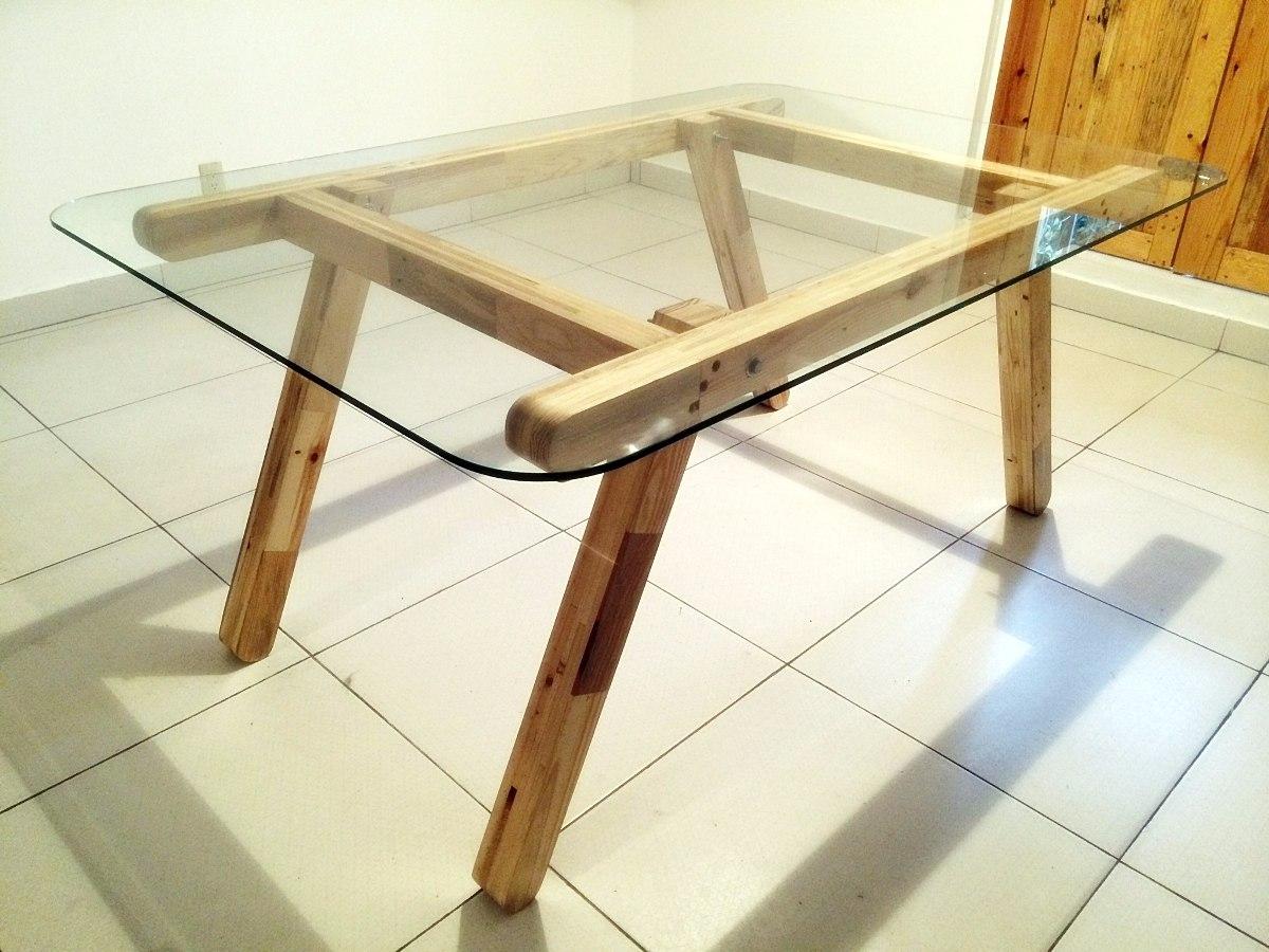 Comedor con cubierta de vidrio madera tarima sustentable Como hacer un comedor