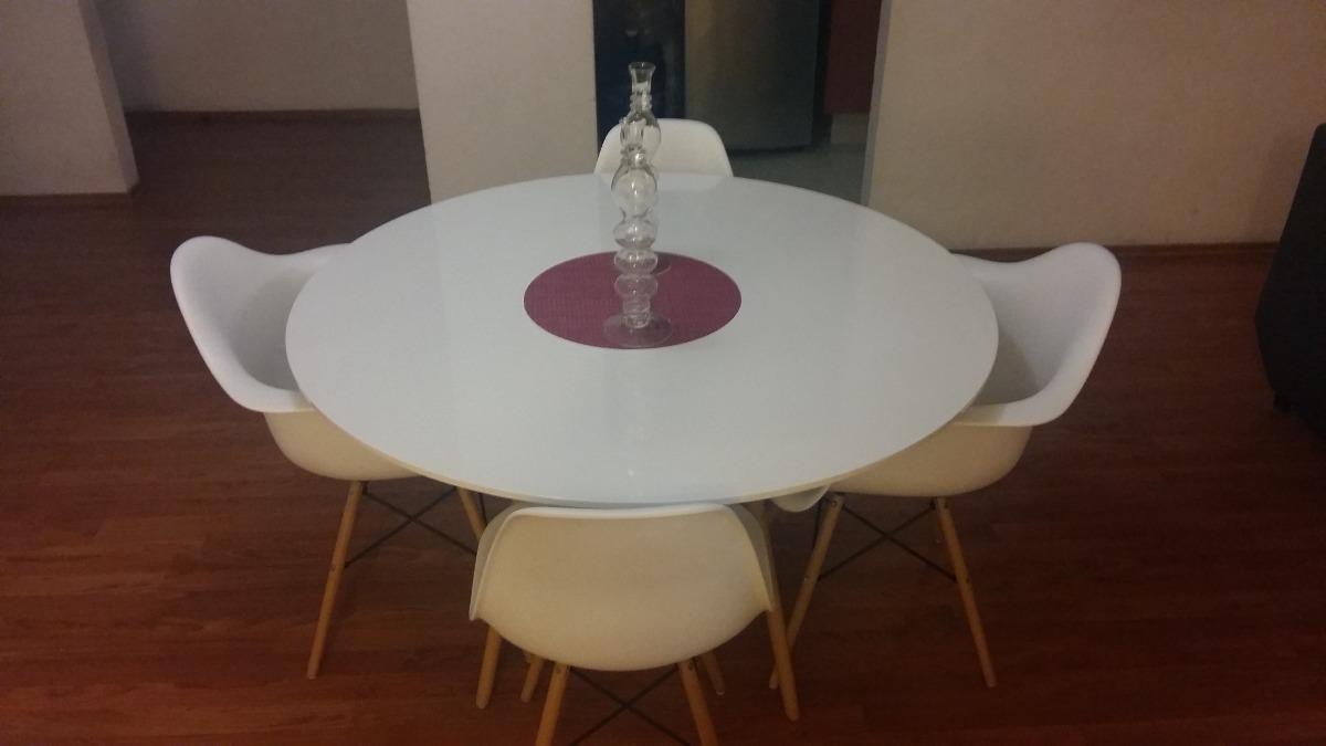 Comedor Con Mesa Redonda Para 4 Replica Eames - Remato ...