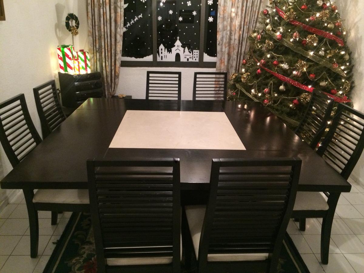 Comedor cuadrado 8 sillas 10 en mercado libre for Comedor 8 sillas