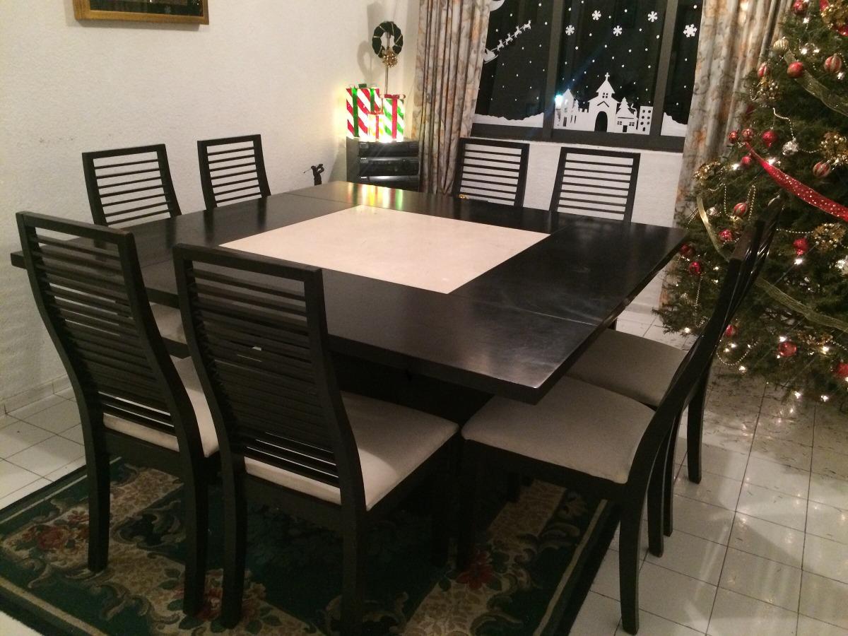 Comedor cuadrado 8 sillas 10 en mercado libre for Comedor cuadrado 6 sillas