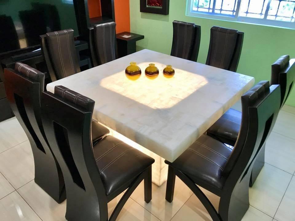 Comedor cuadrado 8 sillas base y cubierta onix 29 200 for Cubiertas para comedor