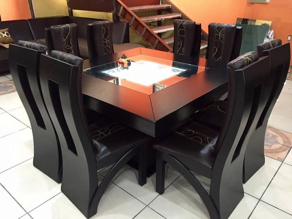 Comedor cuadrado de 8 sillas moderno comedores 22 800 for Comedores modernos en puebla