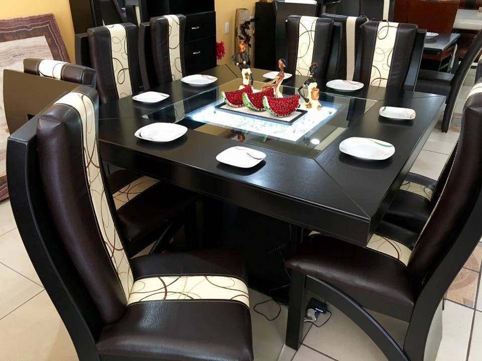 Comedor cuadrado de 8 sillas moderno comedores 22 800 for Comedor 8 sillas usado