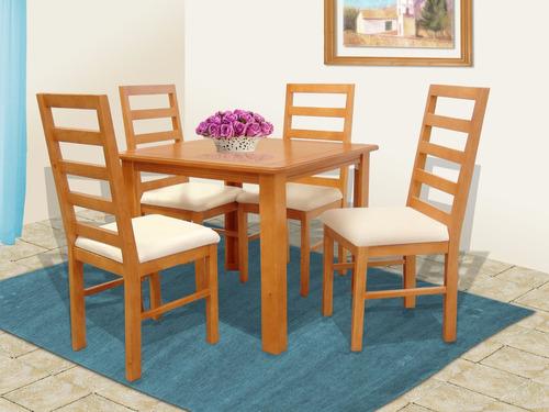 comedor cuatro sillas nilo, muebles el angel