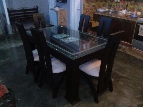 comedor de 6 puestos con madera de cedro somos fabricantes