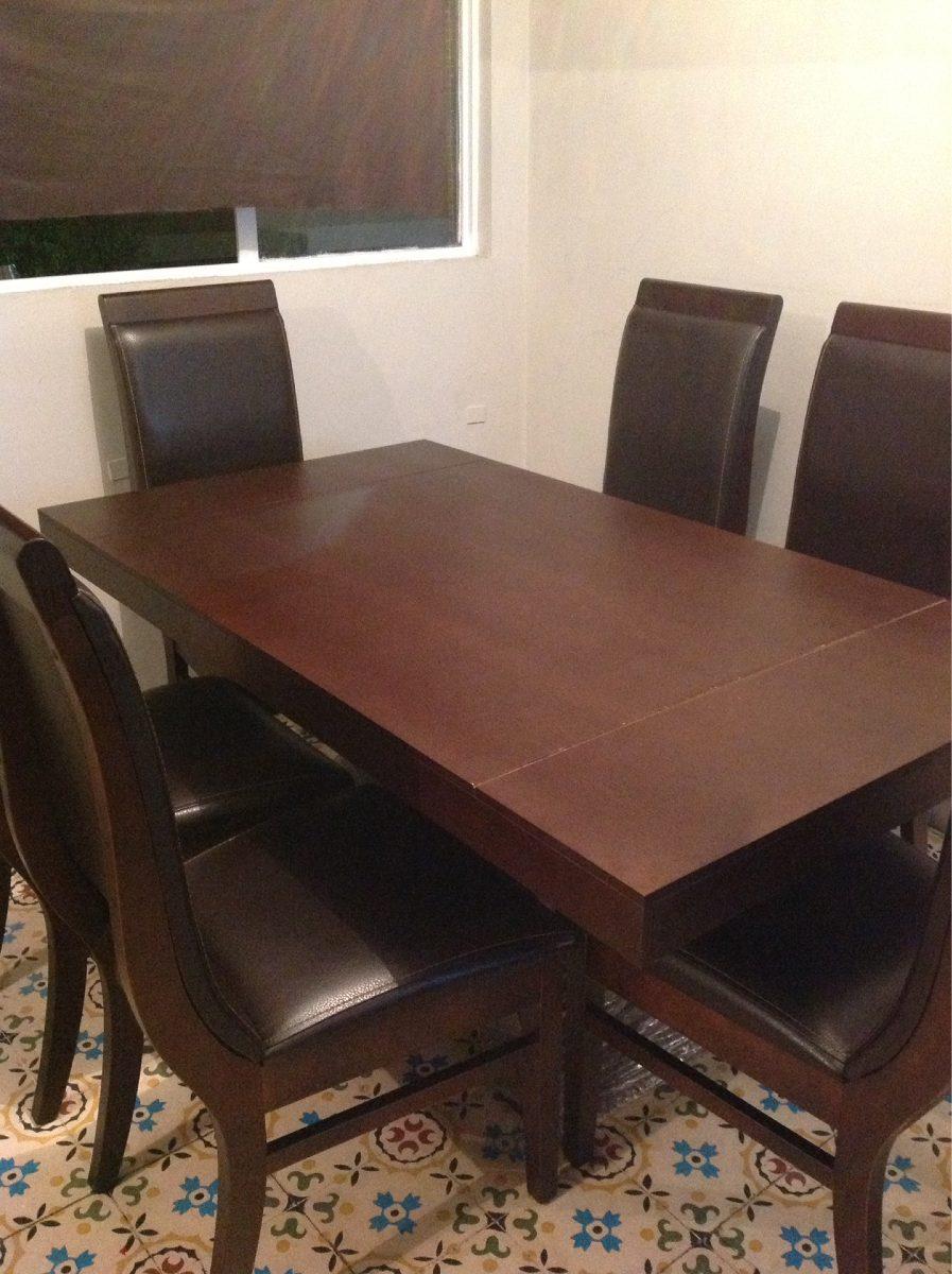 Comedor de 6 sillas 8 en mercado libre for Comedor 6 sillas usado