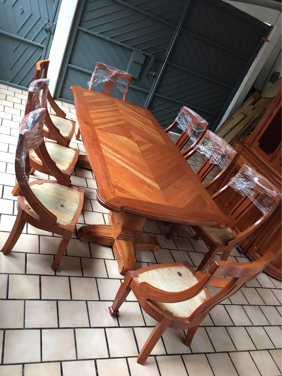 Comedor De 8 Sillas Madera 100 Cedro Estufado Muy Elegante  # Muebles En Jiquilpan Mich