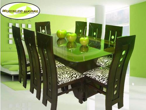 Comedor de 8 sillas precio insuperable s 999 99 en for Juego comedor pequea o