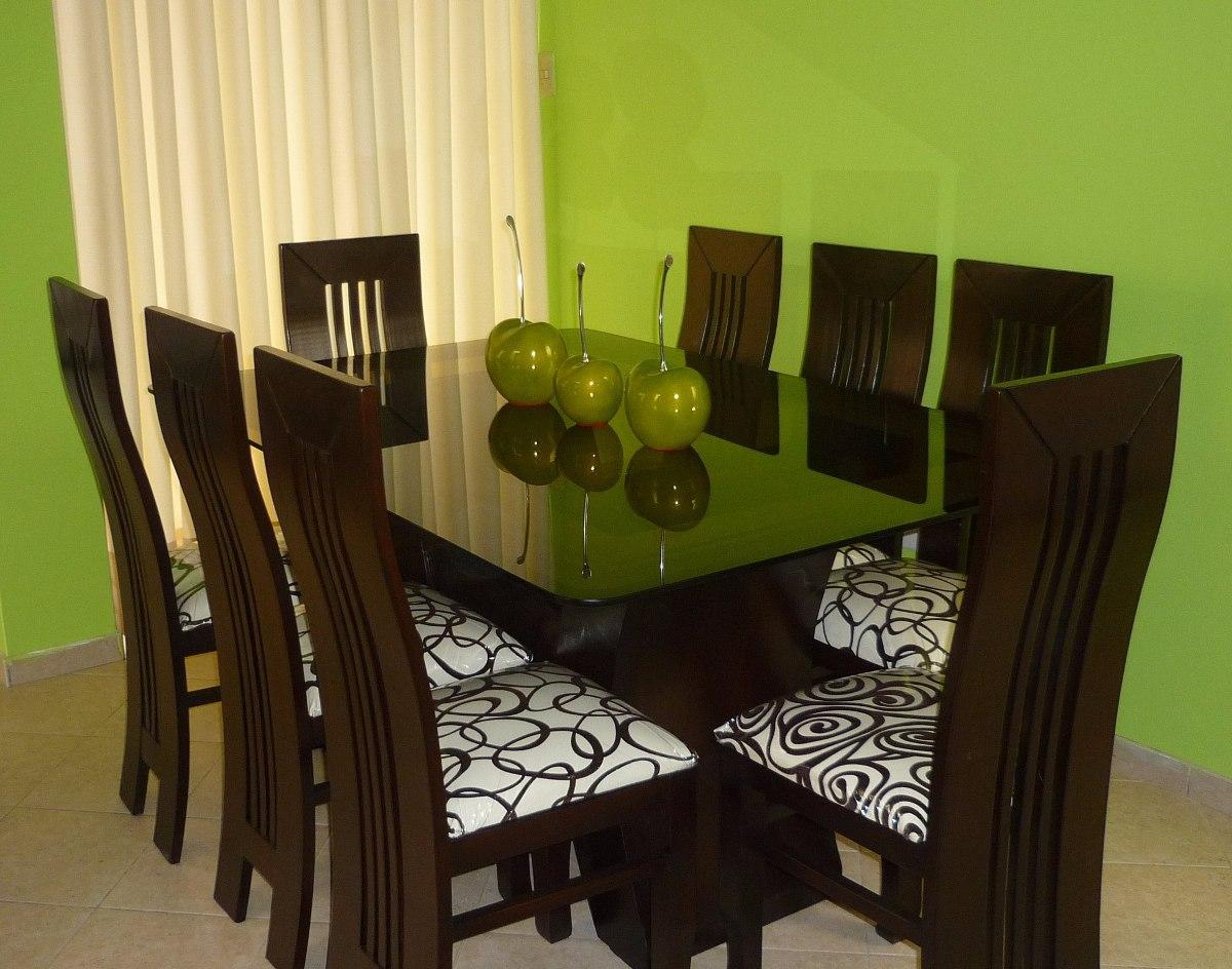Comedor de 8 sillas precio insuperable s 999 99 en for Sillas de colores para comedor