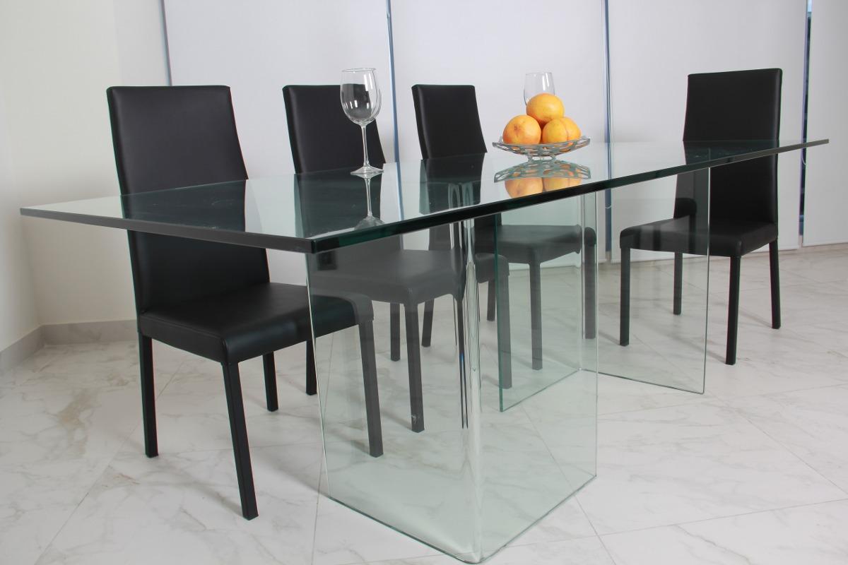Comedor de cristal templado minimalista moderno de 15mm for Precios de comedores en vidrio