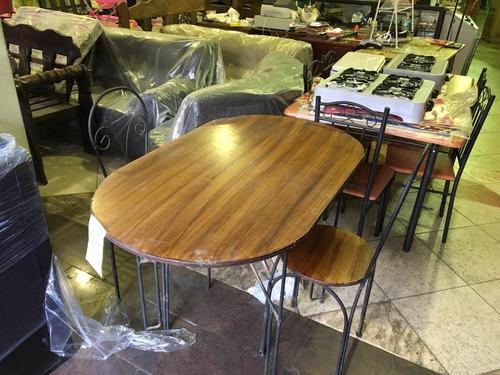 comedor de hierro forjado 4 sillas