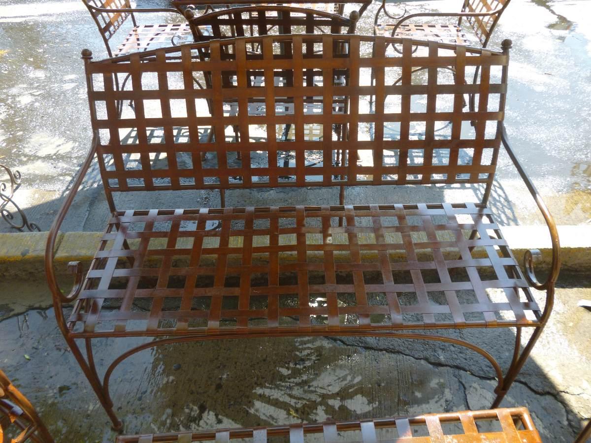 Comedor de jardin en hierro forjado exterior 5 for Faroles en hierro forjado para jardin
