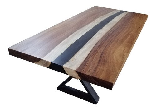 comedor de madera 220x110cm para 6 personas en parota y meta