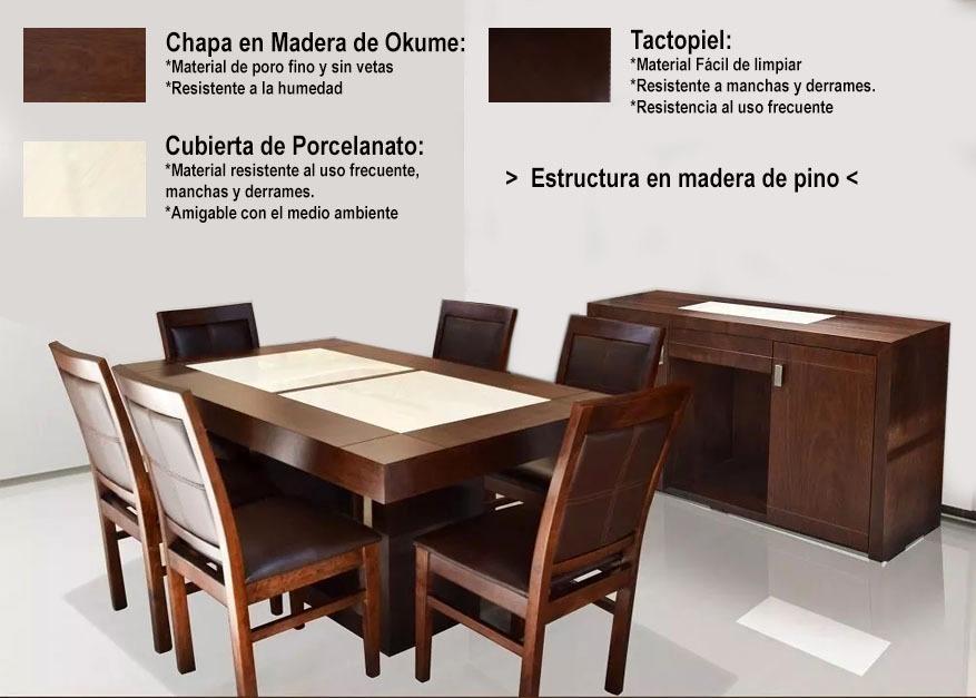 Buffete Comedor Madera De PersonasmesaSillas 6 bf7Y6gy