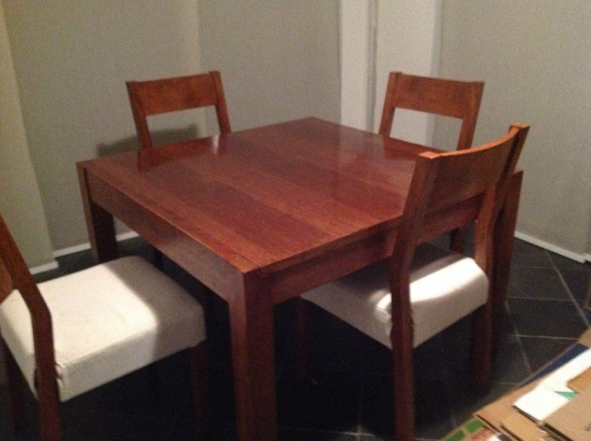 Design comedor 4 sillas madera galer a de fotos de for Comedor de madera