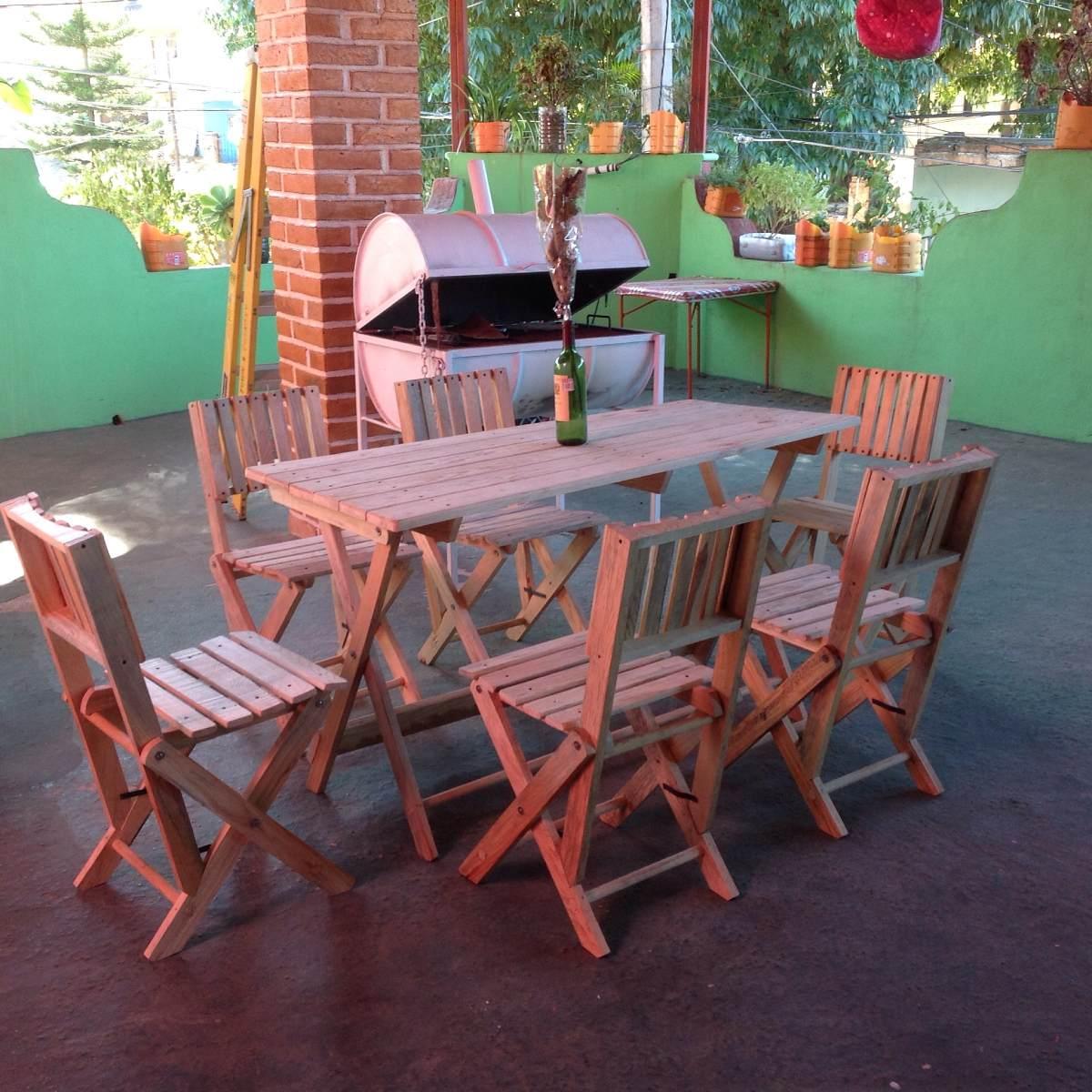 Comedor de madera con 6 sillas 2 en mercado libre for Sillas de madera precios