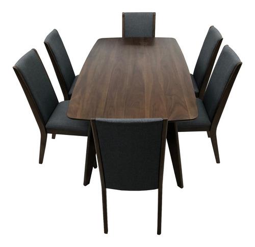 comedor de madera de 6 sillas grises mesa rectangular nuevo