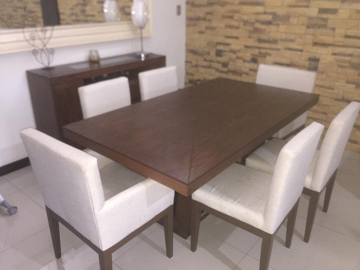 Comedor de madera de encino 6 sillas y bufetero 25 500 for Comedor de madera 6 sillas