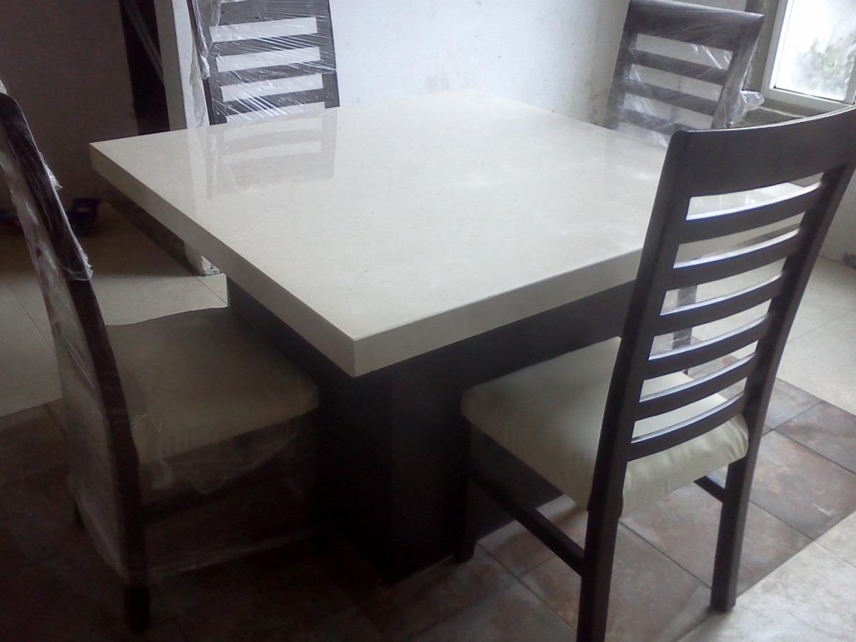 Comedor de marmol crema marfil 4 en mercado libre - Bases de marmol para mesas de comedor ...