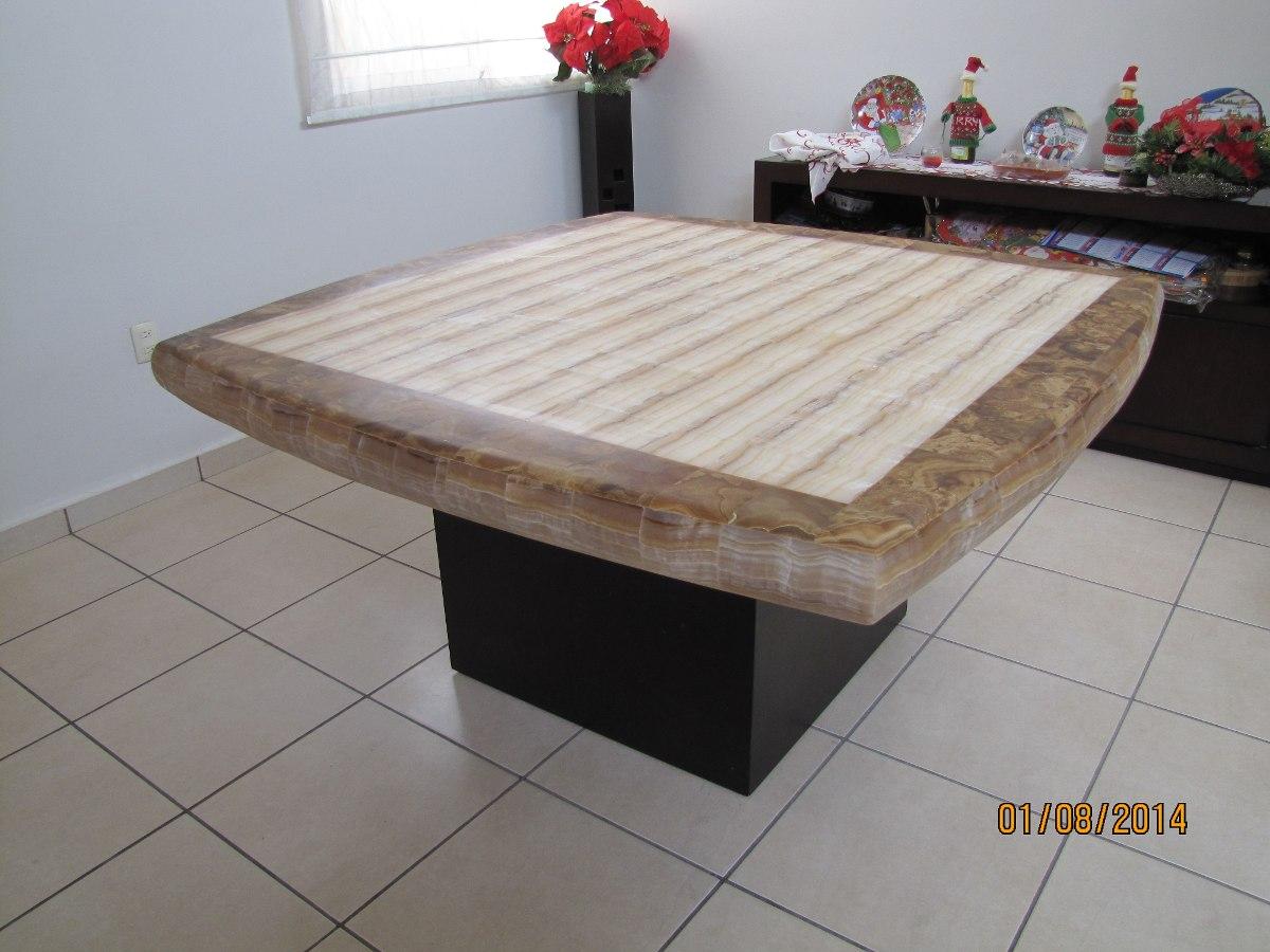 Comedor de onix ambar con cenefa y faldon cafe 1 40 x 1 - Bases de marmol para mesas de comedor ...