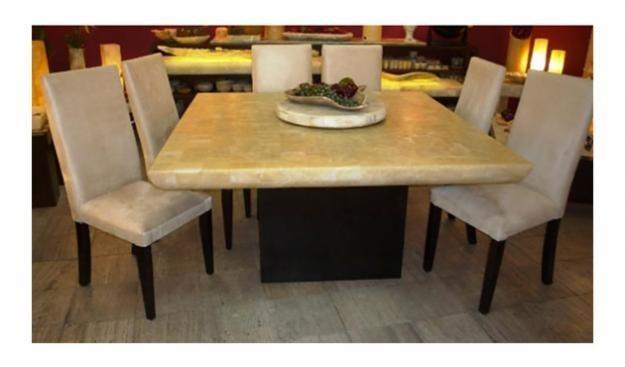 Comedor de onix mesas cubiertas comedores de piedra for Comedores usados