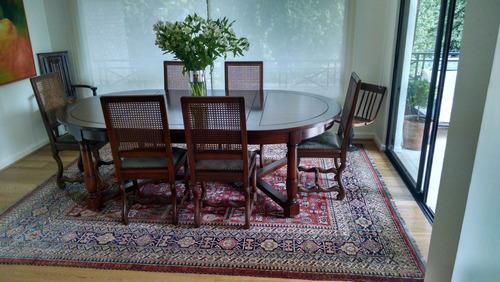 comedor de rauli espectacular de 2,40 x 1.40 y 6 sillas