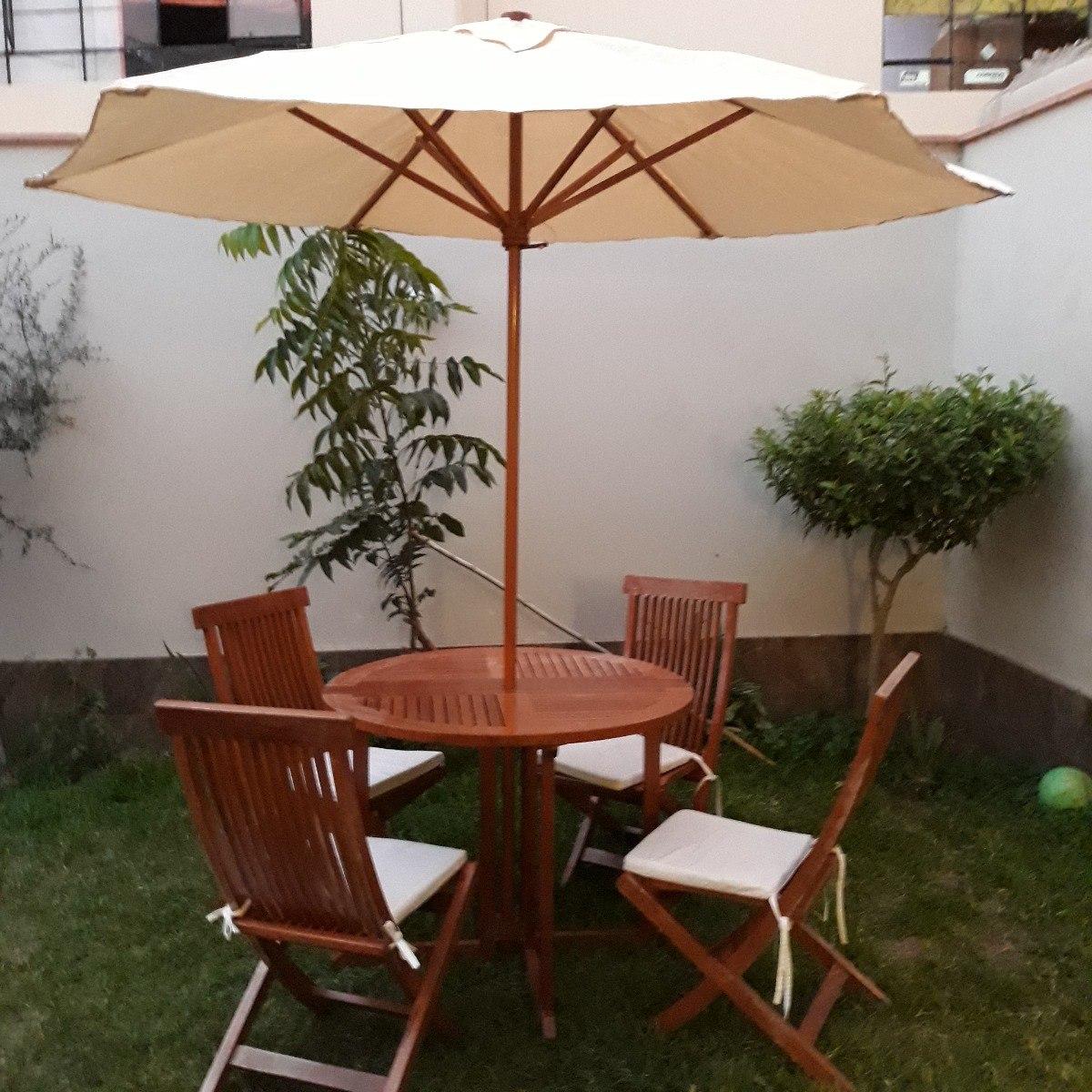 Comedor De Terraza Jardin Playa Madera Cedro S 1 200 00