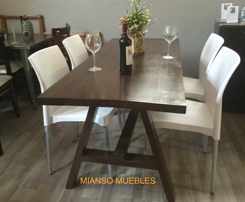 Comedor en madera con 4 sillas 5 en mercado libre for Comedor pequea o 4 sillas