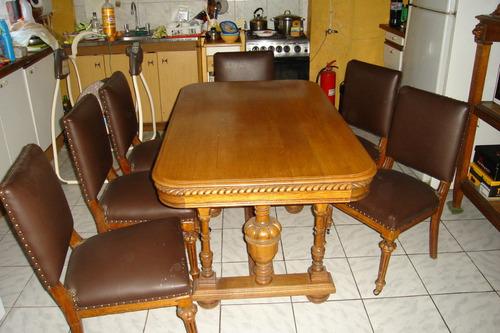 comedor encina  8 p con buffett y seis sillas, oferta.