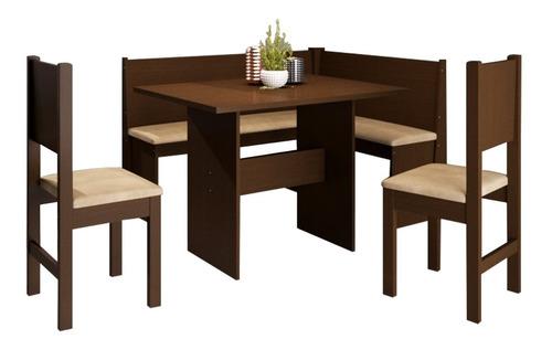 comedor esquinero + sillas madera maciza 28729 / fernapet