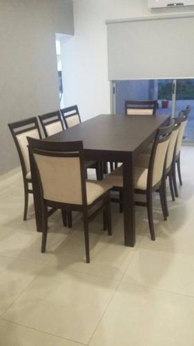 comedor guatambu mesa 2x0'90 + 8 sillas  ecoc. envio gratis