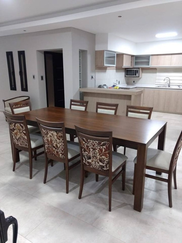 comedor guatambu mesa 2x0'90 + 8 sillas  tapiza envio gratis