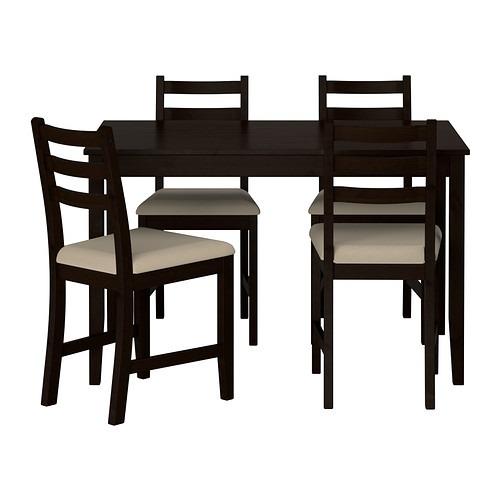 Comedor Lerhamn Ikea Con 4 Sillas